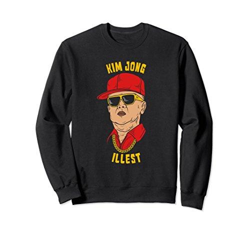 Unisex Funny Kim Jong Il North Korea Sweatshirt Kim Jong Illest XL: - Kim Sunglasses Un Jong