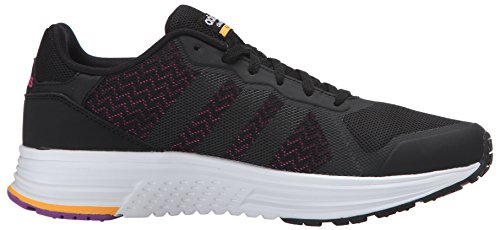 adidas NEO mujer Cloudfoam Flyer W Running Shoe Black/black/shock Pink S16