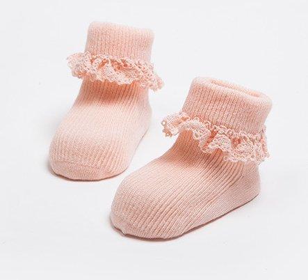 Baby Girl Socks Lace Cotton Socks Set Infant Toddler Bobby Socks 3 Pack 1-4t