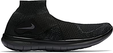 NIKE Mens Free RN Motion Flyknit 2017 Running Shoe (Black)