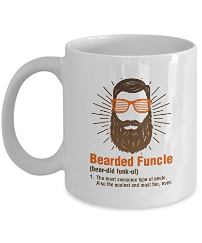 Bearded Funcle Best Funny My Favorite Uncle Coffee & Tea Gift Mug Cup