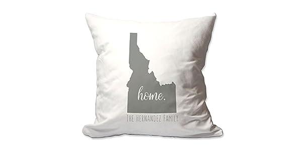 Amazon.com: Personalizado Estado de Idaho Home Throw Pillow ...