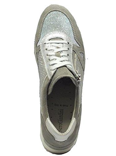 Schuhe schwarz Garten für Damen aus Wildleder und Leder Schuppenkriechtiere Silber Velour metal Lux White