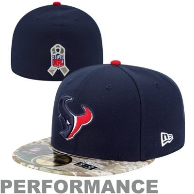 Houston Texans New Era 5950 Fitted Size 7 5/8 Salute To Service Camo Bill Hat Cap - Support Our Troops