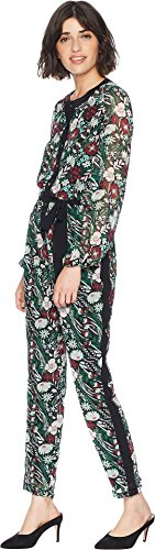 Juicy Couture Women's Secret Garden Floral Jumpsuit Pitch Black Secret Garden Medium -