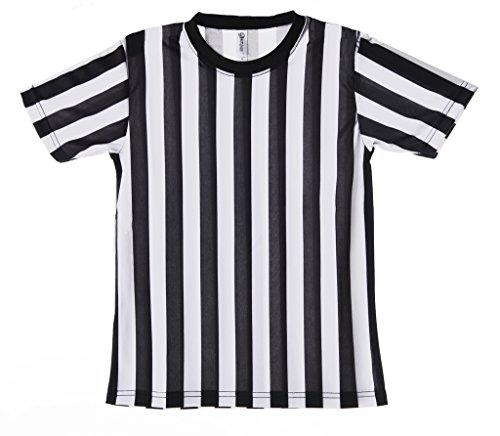 Mato & Hash Children's Referee Shirt Ref Costume Toddlers Kids Teens - Black/White CA2004K (Cool Referee Costumes)
