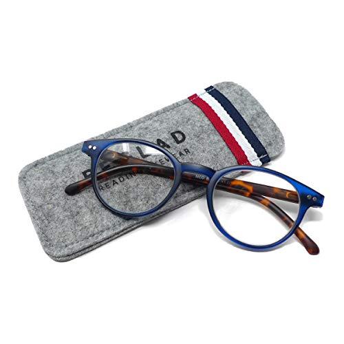 BEGLAD(《비구랏도》)시니어 글래스 안경 돋보기 세련된 케이스 첨부  BT2015BL 트렌드의 classics 타일 웰링톤형 블루 +1.0~+2.5