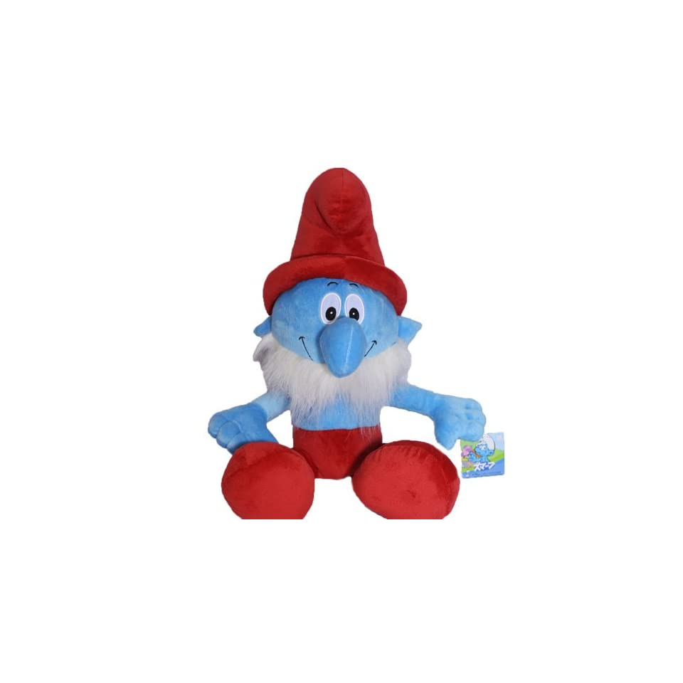 The Smurfs   16INCH Papa smurf soft RARE Stuffed Plush Doll Toy Fast Shipping From USA