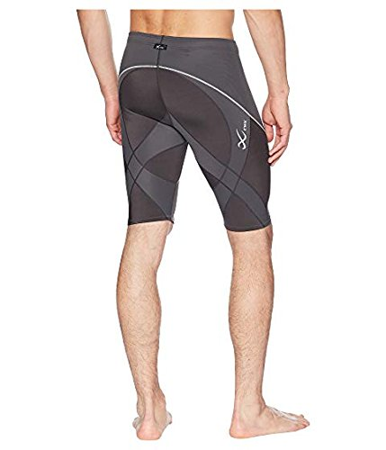 CW-X Men's Endurance Pro Shorts, Charcoal/Charcoal/Silver, Small by CW-X (Image #2)