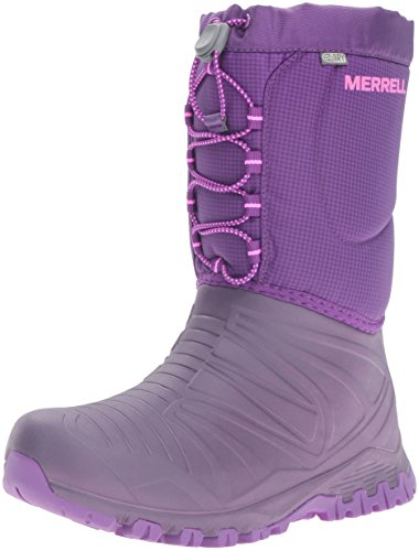 Merrell Girls' Snow Quest Waterproof High Rise Hiking Shoes, Pink (Berry),...