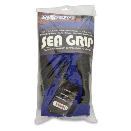 Hi-Seas Sea Grip Superfabric Offshore Gloves, Pair, One Size, Blue - Hi Seas Sea Grip