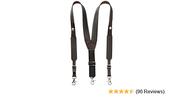 a86743607 Nocona Belt Co. Men s Star Basket Leather Suspender at Amazon Men s  Clothing store