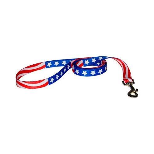 Americana Dog Harness - Yellow Dog Design Lead, 1-Inch by 60-Inch, Americana