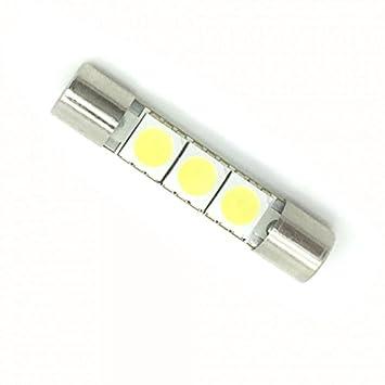 Zesfor® Bombilla LED Tipo Fusible 31 mm - Tipo 41: Amazon.es: Coche y moto