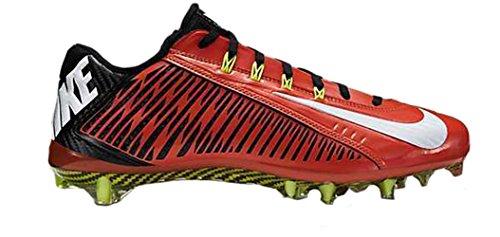 Nike Vapeur Carbone Élite 2014 Td Mens Football Claquette Orange Flash / Chaussures Blanches 631425-811
