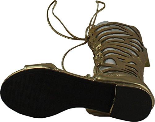 Breckelles Kvinners Solo-15 Gladiator Sandaler Gull