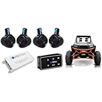 Rockville 6.5 Tower Speakers+Boss Bluetooth Control+4-Ch Amplifier RZR/ATV/UTV