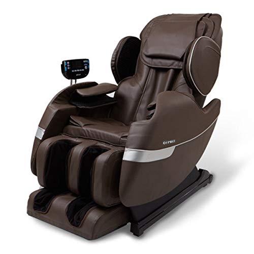 R Rothania Ospirit New Electric Full Body Shiatsu Massage Chair Recliner Straight I Track 3yr Warranty (Brown) from R Rothania