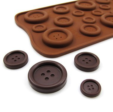((Cute as a Button) Various Buttons Silicone Mold (for chocolate, fondant, candy, ice tray) - Custom Molds from)