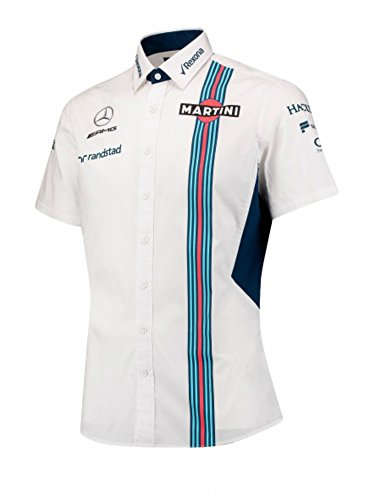 Williams Martini Formula 1 Racing Men's 2017 Team Short Sleeve Shirt - Racing Martini Shirt
