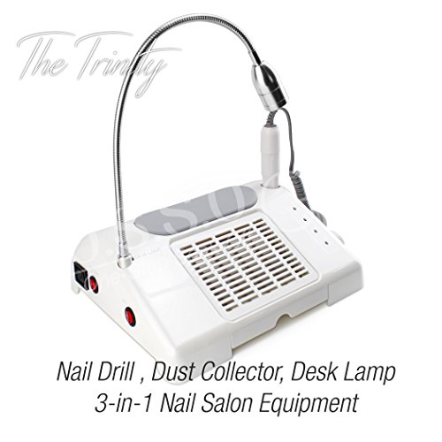 35000 RPM Nail Drill Dust Collector Desk Lamp 3-in-1 machine for salon by O.S.S.O Gel