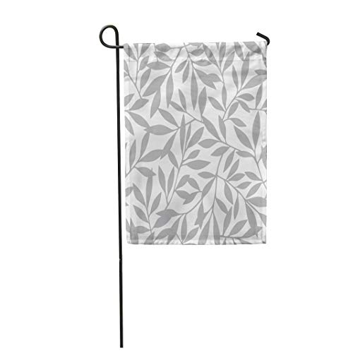Semtomn Garden Flag 12x18 Inches Print On Two Side Polyester Abstract Leaf Pattern Fun Nature Sweet Modern Branch Interesting Simple Home Yard Farm Fade Resistant Outdoor House Decor Flag