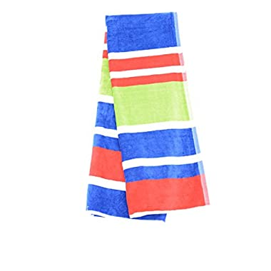 Beach Towel 30 x 60  by HD DESIGNS OUTDOOR (Blue/Red)
