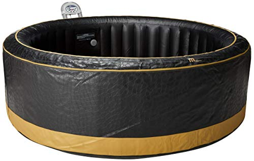 MSPA Luxury Exotic Relaxation and Hydrotherapy Spa With Crocodile Skin Pattern and Gold Trim M-115S