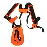 Orange Safe Double Shoulder Harness Strap For Brush Cutter Grass Strimmer Trimmer