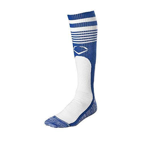 (EvoShield Throwback Game Socks, Royal - X-Large)