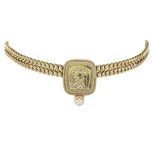 Antiquities Couture Gold-Tone Simulated Pearl Cuvette Link ()