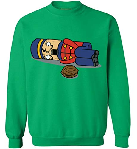 Awkwardstyles Nutcracker Christmas Sweater Funny X-mas Gift Sweatshirt M Green