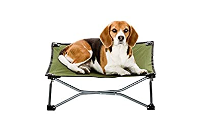 """Carlson Pet Products 8040 Elevated Folding Pet Bed 26"""" Long, Includes Travel Case, Green"""