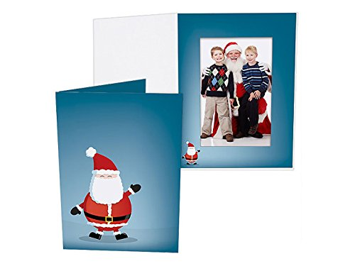 JOLLY SANTA Holiday Photo Folder for 4x6 portrait prints Our price is for 25 units - 4x6 (Santa Frame)