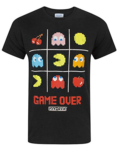 Official Pacman Merchandise. Game Over Mens T-Shirt in sizes from S to XXL