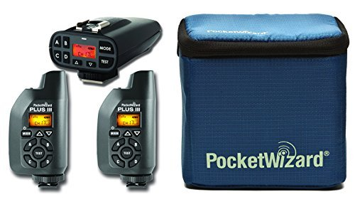 PocketWizard Plus IV/III Bonus Bundle 4: 3 Transceivers and G-Wiz Squared Bag (Wizard Pocket)