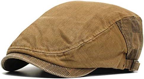 帽子 メンズ ハンチング コットンチェック (ブラウン)