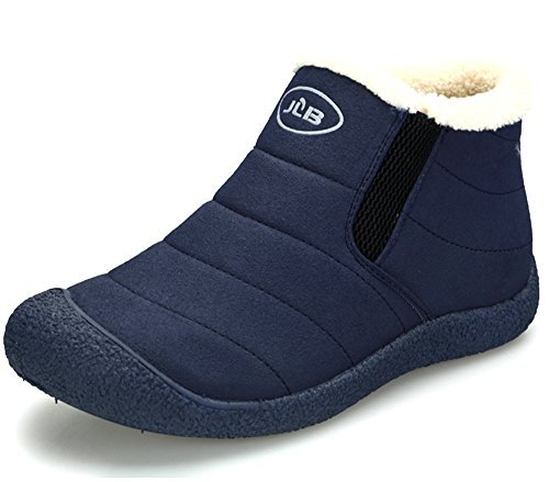 Womens Warm Lined Boots (Clarsun Women¡¯s Fur-Lined Slip-On Ankle Warm Snow Couples Boots (Women Size 8 B(M) US/Men Size 6 D(M) US, Blue))