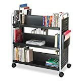 Scoot Book Cart, Six-Shelf, 41-1/4w x 17-3/4d x 41-1/4h, Black, Sold as 1 Each