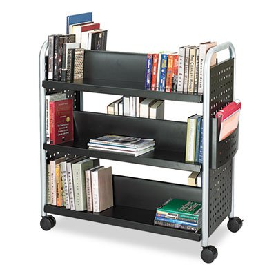 SAFCO PRODUCTS Scoot Book Cart, 6-Shelf, 40w x 17-1/2d x 41-1/2h, Black, Sold as 1 Each by Safco Products