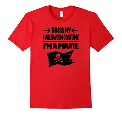 Pirate Halloween Costume Tshirt - Men Women Youth Sizes