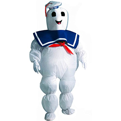 Inflatable Stay Puft Marshmallow Man Costume (Inflatable Stay Puft Marshmallow Man Child Costume - One Size)