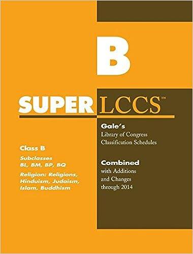 SUPERLCCS 14 Schedule Bl-Bq: Rel Hind Judaism Islam Budd