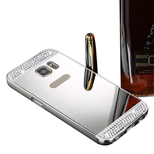 Price comparison product image For Samsung Galaxy S7 Edge,Elaco Luxury Bling Glitter Hard Back Film Case Cover (Silver, S7 Edge)