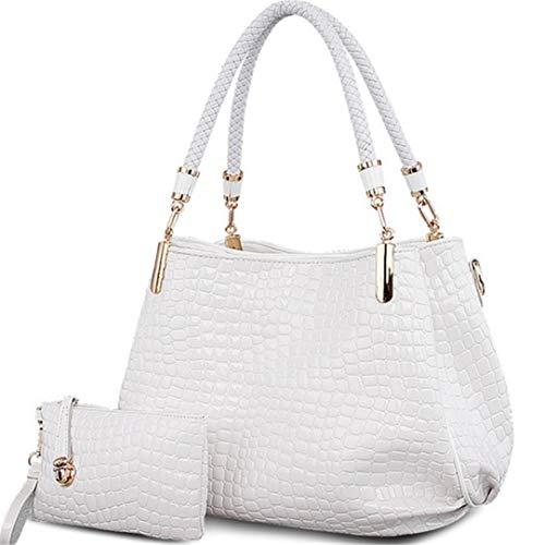 Sacs Crocodile Sac portefeuille White Lady Totes grande capacité sac à à main Femmes à Borse main bandoulière BxIrZBTq