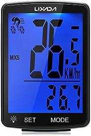 Lixada Bike Computer Wireless Multifunctional LCD Screen Bicycle Computer Bike Rainproof Speedometer Odometer