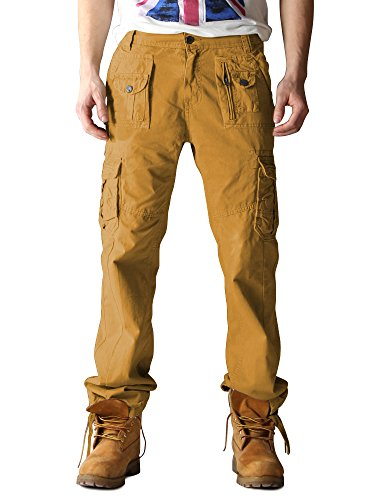 Lehmgelb Hombre Para Informales De Algodón Pantalones 3380 Ochenta FwCtqW0