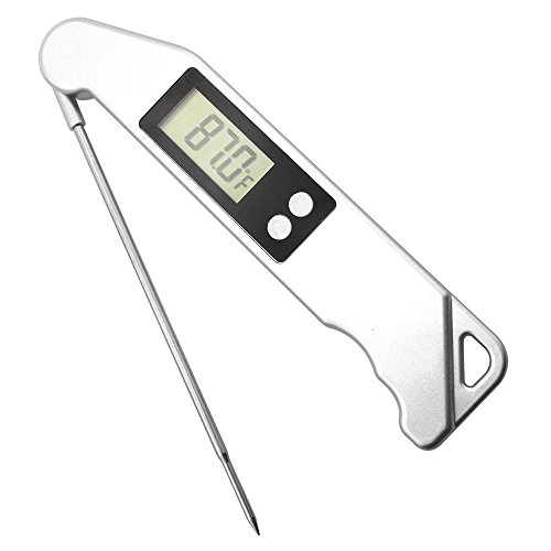 Digital Instant Read Meat Thermometer, Electronic Cooking Thermometer with Collapsible Internal Probe for Grill Kitchen Meat BBQ Oven Candy Liquid