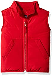 The Children\'s Place Little Boys and Toddler Light Weight Vest, Classic Red, 4T