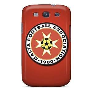 Premium [yJeCmQM2018IDqMN]malta Football Logo Case For Galaxy S3- Eco-friendly Packaging
